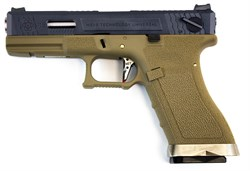 WE, Пистолет Glock-17 G-Force GGBB (TAN/BK) - фото 6671