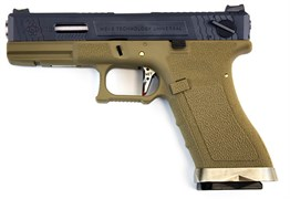 WE, Пистолет Glock-17 G-Force GGBB (TAN/BK)