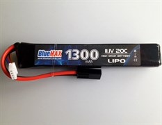 BlueMax, АКБ 1300mAh Lipo 11.1V 20C stick 20x21x128mm