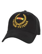 Rothco, Кепка SUPREME LOW PROFILE VIETNAM VETERAN (Black)